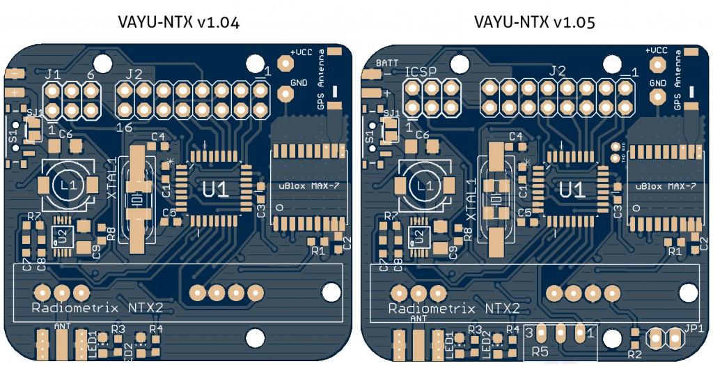 VAYU-NTX-v1.04 and v1.05 Comparison